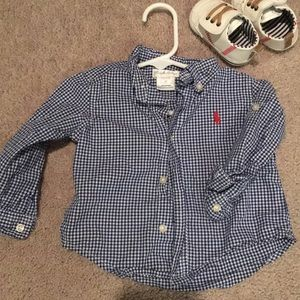 Ralph Lauren 9M Long Sleeve Button Down